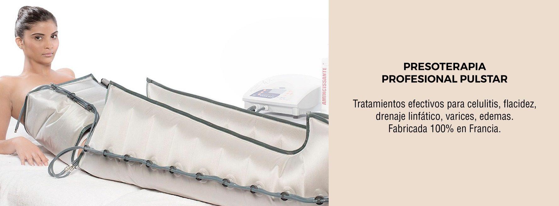 PRESSOTERAPIA PROFISSIONAL PULSTAR. Tratamentos eficazes para celulite, flacidez, drenagem linfática, veias varicosas, edema. Fabricado 100% na França.